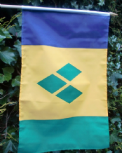 HAND WAVING FLAG - St. Vincent & the Grenadines